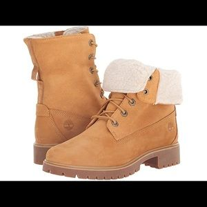 Jayne Waterproof Fleece Women's Timberlands Sz. 9